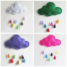 Baby Kids Nursery Large Cloud Raindrop Removable Wall Sticker Decals Mural Decor
