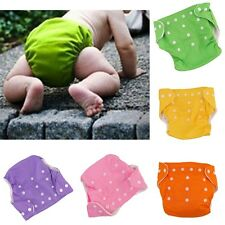 Reusable Baby Infant  Adjustable Nappy Dotted Cloth Washable Diapers Soft Covers