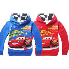 Cars Lightning McQueen Kids Coat Boys Girls Unisex Hoodie Tops Jumper Clothing