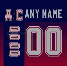 Vancouver Canucks 2001-2006 Vintage Maroon Jersey Customized Number Kit un-sewn