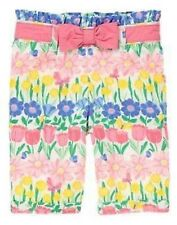 NWT Gymboree Girls All Ruffled Up Spring Easter Flower Pants Size 0-3-6-12-18 M