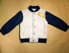 NWT Gymboree Boys Quilted Varsity Jacket Coat Blue & Gray Size 2T-3T