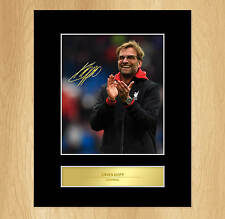 Jürgen Klopp Liverpool Signed Mounted Photo Display