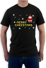 Funny Ugly Christmas - Santa Peeing Merry Christmas T-Shirt Xmas Party