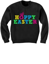 Hoppy Easter - Happy Easter Colorful Cute Holiday Kids Sweatshirt Gift Idea