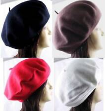 1 Piece 100% Wool Beret Tam French Artist Beanie Hat Cap Winter Ski 4 Women Men