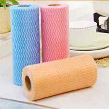 50pcs/Roll Non-Woven Cleaning Cloth Disposable Wipes Clean Towel Dishcloths UU