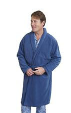 Mens Champion Lightweight Thermal Micro Fleece Bath Robe Dressing Gown Nightwear