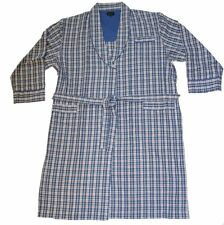 Mens Wolsey Checked Design Brushed Cotton Bath Robe Dressing Gown Nightwear