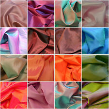Plain TWO TONE Coloured Habotai Silk Lining Fabric 100% Polyester Material