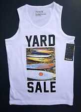 NWT Hurley Boy's White Graphic Tank Top Size M (10-12yrs 140-152cm)