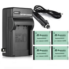 1800mAh NB-6LH NB-6L Battery For Canon Powershot D10 S95 SD1300 SX500 IS+Charger