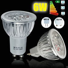 4 10 20x 6W GU10 MR16 LED Bulbs Spotlight Lamps High Power Warm Day White Light