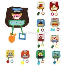 Cartoon Cotton Toddler Infant Baby Bibs Saliva Pinafore Aprons with Teethers