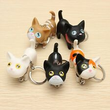 Cute Cat Kitten with Bell Key Chains Keychain