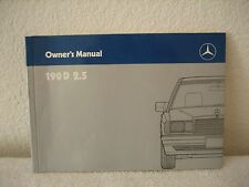 Mercedes-Benz Owner's Manual 190D 2.5 (6550572613) 1989