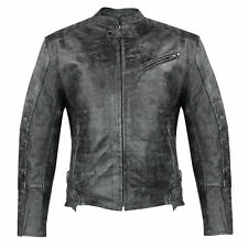 Xelement Men's Menace Amored Leather Motorcycle Jacket with Gun Pocket