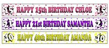 PERSONALISED BANNERS NAME AGE PHOTOS BIRTHDAY PARTY 40TH 50TH 60TH 70TH 80TH A4