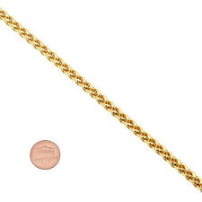 Men's 5mm 14K Yellow Gold-Plated Wheat Chain with Lobster Clasp