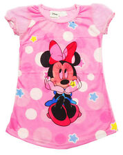NEW SZ 1-5 NIGHTIE GIFT MINNIE MOUSE PYJAMAS KIDS SUMMER SLEEPWEAR GIRLS TSHIRT