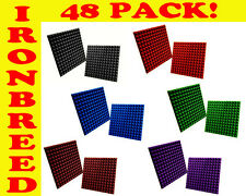 """48 PACK 1"""" Pyramid 12""""x 12"""" Acoustic Soundproofing Studio Wall Booth Foam Panels"""