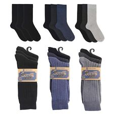 MENS 3 PACK COTTON RIBBED SOCKS BY TOM FRANKS FOR WORK LEISURE SUIT SOCKS