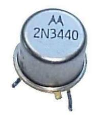 2N3440 NPN High Voltage Bipolar Driver Transistor, 1A 250V, 3-Pin TO-39 Motorola