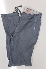 "Firetrap womens pale blue cargo combat cotton trousers 28"" waist 32L tie ankle"