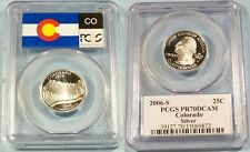 2006-S 25c SILVER PCGS PR70DCAM COLORADO QUARTER PROOF DEEP CAMEO PR 70