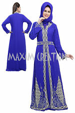 EXCLUSIVE CAFTAN GEORGETTE ARABIAN JILBAB JALABIYA FANCY WEDDING GOWN DRESS 5172