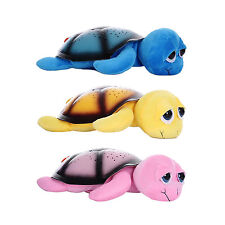 Baby Music Turtle Night Light Star Sky Projector Lamp Plush Bedroom Starring PK