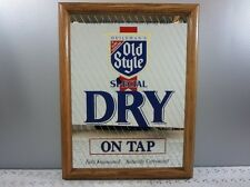 Old Style Beer Sign Mirror On Tap Heileman's Brewery Bar Sign Vintage