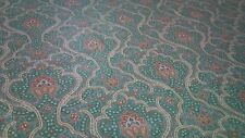 Paisley 5PC Daybed Set -Bedskirt Pillow shams Fitted sheet  seafoam green orange