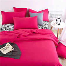 Rose Red Single Queen King Size Bed Set Pillowcase Quilt Duvet Cover Zebra O
