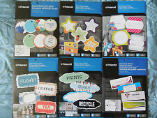 Polaroid Inkjet Print-Your-Own Labels, LOT of 1 or 2 Pages - Your Choice Shape