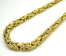 """Mens Womens SOLID 14K Gold Byzantine Necklace Chain 3MM - 18"""" - 24"""" Inches"""