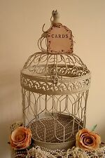 LARGE VINTAGE CREAM WEDDING POST BOX WISHES FOR THE BRIDE WEDDING FAVOURS