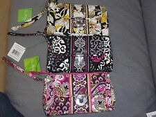 Vera Bradley Pushlock Wristlet--Canterberry Magenta or Very Berry Paisley--NEW