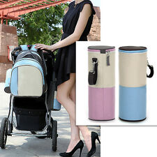 350ml Water Bottle Insulated Nylon Cover/Carrier Bag Pouch Hand Strap