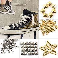 100pcs Pyramid Rivet Metal Studs Spots Spikes Nailheads Leather Clothes Craft
