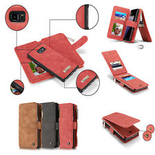 Magnetic PU Leather Removable Flip Wallet Case Cover For Samsung Galaxy Note 7