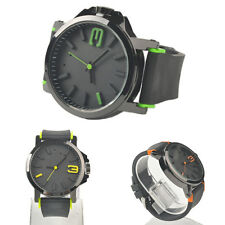 HOT Big Dial Silicone Band Watch Pure Color Unisex Casual Round Dial Watch AL