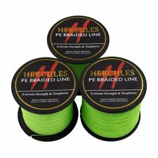 Hercules 100M-2000M 6-300lb Spectra Fluorescent Green Dyneema Braid Fishing Line