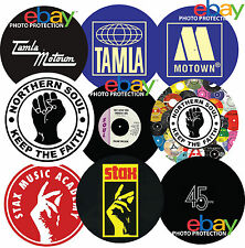 "Northern Soul Tamla Motown Stax 12"" or 7"" DJ SLIPMAT turntable platter mat NEW"