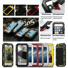Aluminum Shockproof Gorilla Glass Metal Case Cover for iPhone 5S 6 & 7 Plus 5.5""