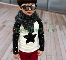 Fashion Kids Toddlers Boys Girls Stars  Embroidery Star 100% Cotton Tops T-Shirt