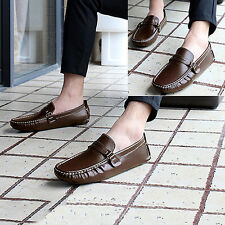Men Spring Autumn Comfortable Faux Leather Slip-On Flat Casual Shoes Charm