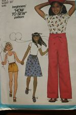 SIMPLICITY 8363 HOW TO SEW GIRLS SKIRT PANTS SHORTS PATTERN SIZE 7 OR 10