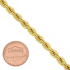 Men's 5mm Round Classic 14k Yellow Gold-Overlay French Rope Chain