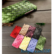 3D Luxury Knit Woven Patent Leather Back Case Cover For Apple iPhone 6 6S Plus